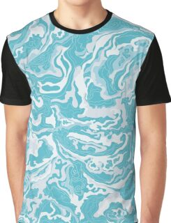 Texture of smoke blue and white Graphic T-Shirt