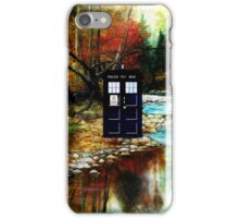 tardis on the riverbank iPhone Case/Skin