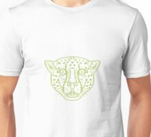 Cheetah Head Mono Line Unisex T-Shirt