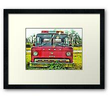 Old Fire Truck (HDR) Framed Print