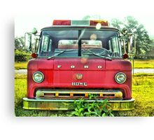 Old Fire Truck (HDR) Canvas Print