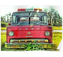 Old Fire Truck (HDR) Poster