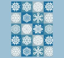Checkered Snowflakes Kids Clothes