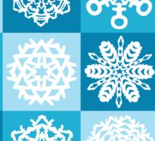 Checkered Snowflakes Sticker