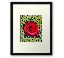 POP ROSE Framed Print