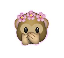 Emoji Monkey Flower Crown Edit by ZannahP