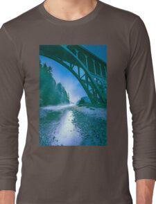 Ocean - Fog Under the Beach Bridge Long Sleeve T-Shirt