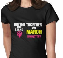 Women's March On Washington D.C. Womens Fitted T-Shirt