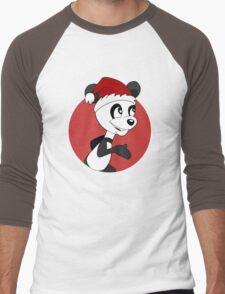 Cute Christmas panda bear cartoon Men's Baseball ¾ T-Shirt