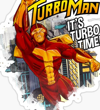 Turbo man Sticker