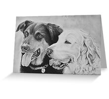 """""""Opi and George"""" - Dog portraits Greeting Card"""