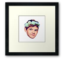 Thomas Brodie-Sangster Flower Crown Framed Print