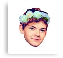 Thomas Brodie-Sangster Flower Crown Canvas Print