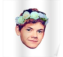 Thomas Brodie-Sangster Flower Crown Poster