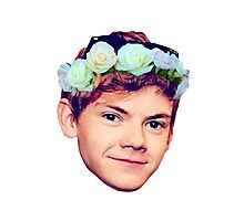 Thomas Brodie-Sangster Flower Crown Photographic Print