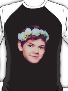 Thomas Brodie-Sangster Flower Crown T-Shirt