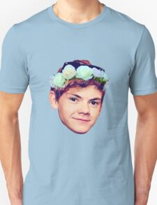 Thomas Brodie-Sangster Flower Crown T-Shirt