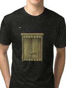 Glitch Furniture bag cabinet treehouse 3 3 Tri-blend T-Shirt