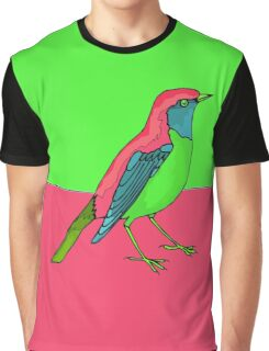 Neon Bird Graphic T-Shirt