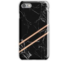 Black Marble & Rose Gold  iPhone Case/Skin