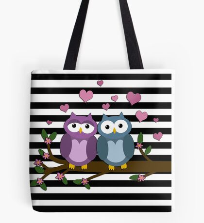 Valentines day owls  Tote Bag
