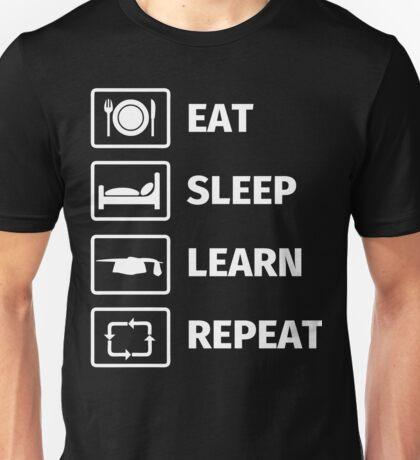 EAT, SLEEP, LEARN, REPEAT Unisex T-Shirt