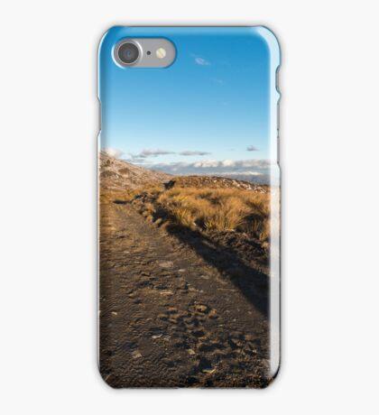 Selfie shadows, late afternoon, Crown Range iPhone Case/Skin