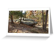 Rock Formation Amid the Trees Greeting Card