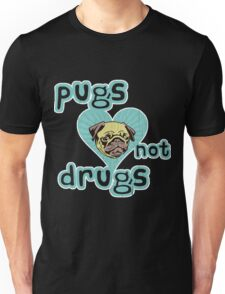 Funny   Pugs Not Drugs  vintage distressed look  copy Unisex T-Shirt