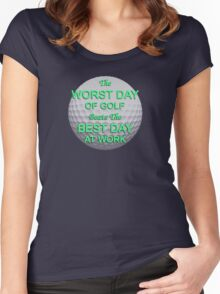 Worst Day of Golf 2 Women's Fitted Scoop T-Shirt