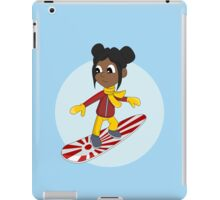 Snowboarding girl cartoon iPad Case/Skin