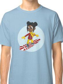 Snowboarding girl cartoon Classic T-Shirt