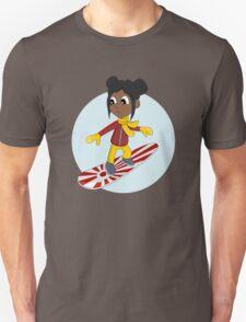 Snowboarding girl cartoon Unisex T-Shirt