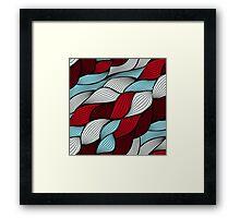 Red blue knit Framed Print