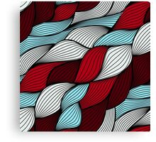 Red blue knit Canvas Print