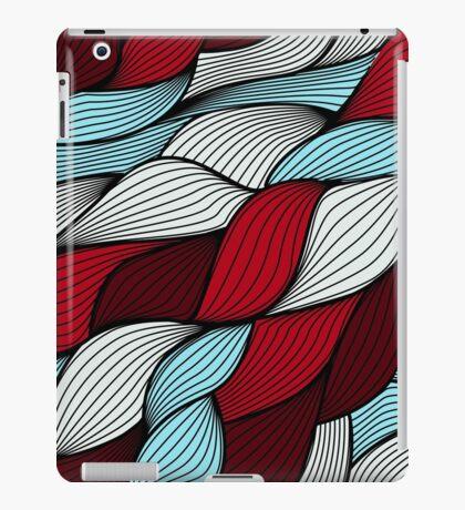 Red blue knit iPad Case/Skin