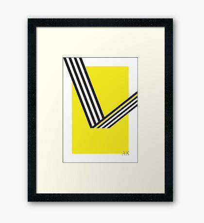 Geometric Construction 01 Framed Print
