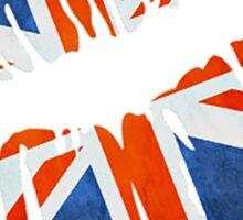United Kingdom Flag Lips Sticker