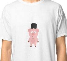 Groom Pig with Hat and bow tie Classic T-Shirt