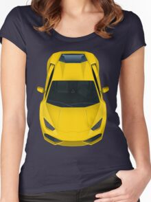 Yellow supercar Women's Fitted Scoop T-Shirt