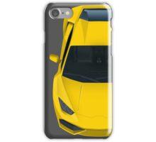 Yellow supercar iPhone Case/Skin