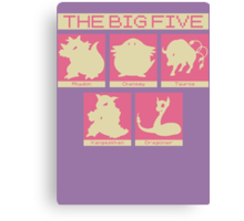 The Big Five (Chansey) Canvas Print