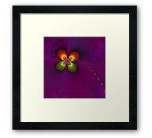 Flower fractal, purple Framed Print