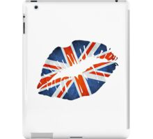 United Kingdom Flag Lips iPad Case/Skin