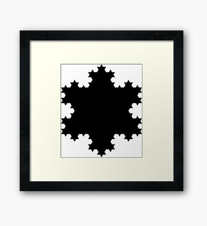 Black snowflake Framed Print