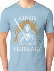Jon Snow Game Of Thrones Kings Are Born In February GOT Black Watch T Shirt Unisex T-Shirt