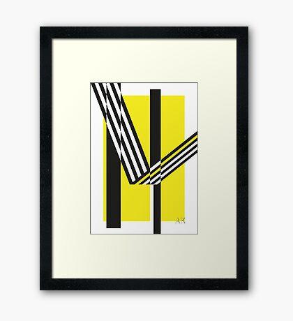 Geometric Composition 02 Framed Print