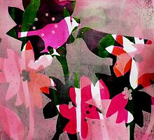 "Candy Stripes and loads of pink by Belinda ""BillyLee"" NYE (Printmaker)"