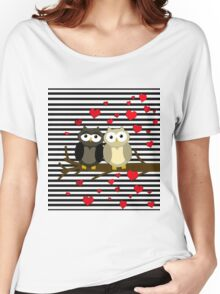Owls Valentines day design Women's Relaxed Fit T-Shirt