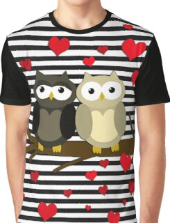 Owls Valentines day design Graphic T-Shirt